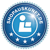This image shows the logo of shopauskunft  - sedruck reviews at shopauskunft