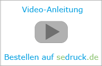 video instructions about the ordering process at sedruck.de