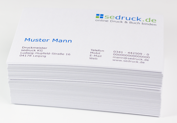 Print your business cards online within 24h sedruck business cards printed by sedruck reheart Gallery