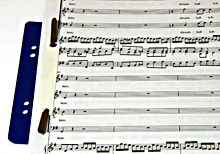 blue filling stripe - sheet of music