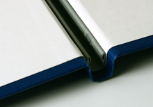 clamping rail on an hardcover book