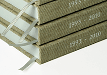 hardcover books with bookmark ribbons
