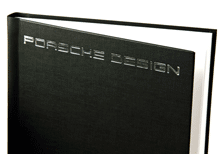 hardcover with special stamping Porsche design