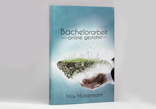Printed bachelor thesis as hardcover book