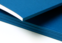 paperback bindings, blue cardboards