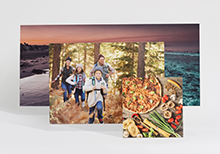Photo on wood in various formats: square (21x21 cm), A3 in landscape format and as panorama (68x31 cm)