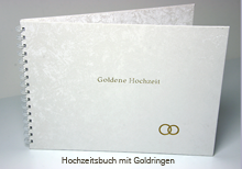 Hochzeitsbuch with wedding rings stamping